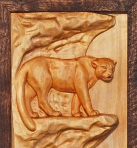 Wood Relief Sculpture